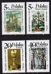 Poland 1986 Monastry Treasures set of 4 unmounted mint, SG 3050-3