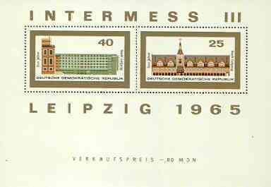 Germany - East 1965 Leipzig Philatelic Exhibition set of 2 m/sheets unmounted mint, SG MS E851