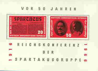 Germany - East 1966 Spartacus Group Conference m/sheet unmounted mint, SG MS E873