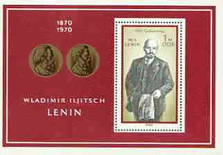 Germany - East 1970 Birth Centenary of Lenin m/sheet, unmounted mint SG MS E 1283
