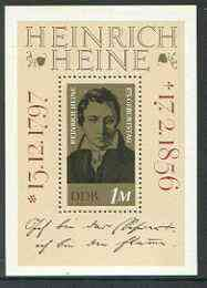 Germany - East 1972 Birth Anniversary of Heinrich Heine (poet) m/sheet unmounted mint, SG MS E1531