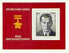 Germany - East 1976 Dr Richard Sorge (Soviet agent) m/sheet unmounted mint SG MS E1830