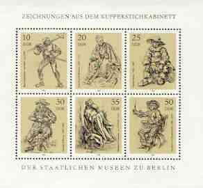 Germany - East 1978 Drawings from State Museum m/sheet unmounted mint, SG MS E2062