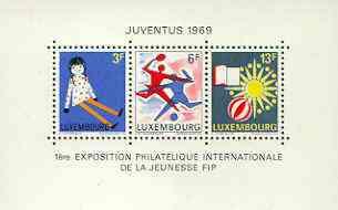 Luxembourg 1969 'Juventus 69' Junior International Stamp Exhibition m/sheet unmounted mint SG MS 835