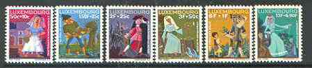 Luxembourg 1966 National Welfare Fund (Fairy Tales) set of 6 unmounted mint, SG 790-95*