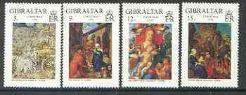 Gibraltar 1968 Christmas (Paintings by Durer) set of 4 unmounted mint, SG 412-15*