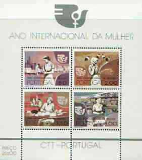 Portugal 1975 International Women's Year m/sheet unmounted mint, SG MS 1594