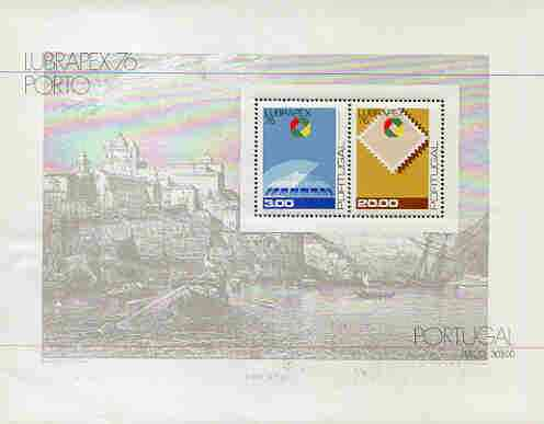Portugal 1976 'Lubrapex 76' Stamp Exhibition m/sheet unmounted mint, SG MS 1624