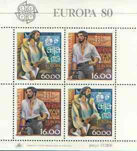 Portugal 1980 Europa perf m/sheet unmounted mint SG MS 1795