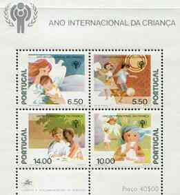 Portugal 1979 International Year of the Child perf m/sheet unmounted mint SG MS 1758