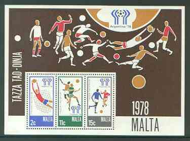 Malta 1978 Football World Cup perf m/sheet unmounted mint, SG MS 604
