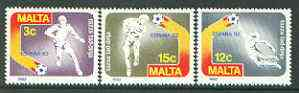Malta 1982 Football World Cup set of 3 unmounted mint, SG 694-96