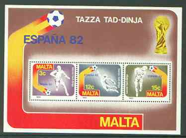 Malta 1982 Football World Cup m/sheet unmounted mint, SG MS 697