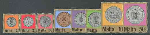 Malta 1972 Decimal Currency set of 8 unmounted mint, SG 467-74