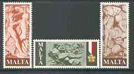 Malta 1977 Worker Commemoration set of 3 unmounted mint, SG 586-88*