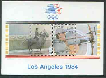 Belgium 1984 Los Angeles Olympics perf m/sheet unmounted mint, SG MS 2784