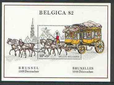 Belgium 1982 'Belgica 82' Stamp Exhibition perf m/sheet unmounted mint, SG MS 2743