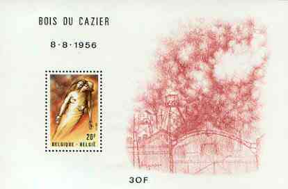Belgium 1981 Bois du Cazier Mining Disaster perf m/sheet unmounted mint, SG MS 2656