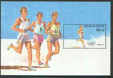 Belgium 1988 Seoul Olympics perf m/sheet (Running) unmounted mint, SG MS 2950