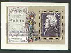 Germany 1991 Death Bicentenary of Mozart perf m/sheet unmounted mint, SG MS 2433