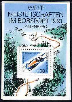 Germany 1991 World Bobsleigh Championships perf m/sheet unmounted mint, SG MS 2344