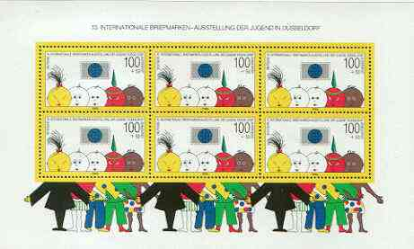 Germany - West 1990 Youth Philatelic Exhibition perf m/sheet unmounted mint, SG MS 2321