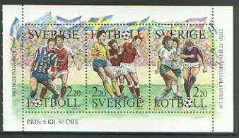 Booklet - Sweden 1988 Swedish Football booklet pane unmounted mint SG 1414a