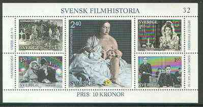 Sweden 1981 Swedish Film History perf m/sheet unmounted mint SG MS 1095