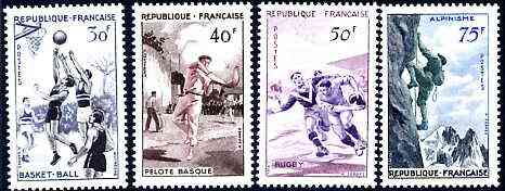France 1956 Sports set of 4 unmounted mint SG 1297-1300