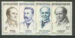 France 1958 French Doctors set of 4 unmounted mint, SG 1367-70*
