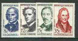 France 1958 French Scientists set of 4 unmounted mint, SG 1371-74*
