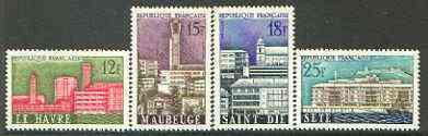 France 1958 Municipal Reconstruction set of 4 unmounted mint, SG 1376-79