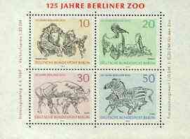Germany - West Berlin 1969 125th Anniversary of Berlin Zoo m/sheet unmounted mint, SG MS B332