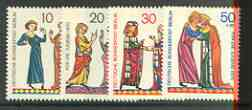 Germany - West Berlin 1970 Miniatures set of 4 unmounted mint, SG B345-48*