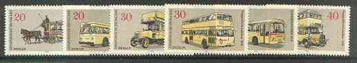 Germany - West Berlin 1973 Berlin Buses set of 6 unmounted mint, SG B434-39*