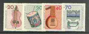 Germany - West Berlin 1973 Humanitarian Relief Fund set of 4 Musical Instruments unmounted mint, SG B443-46*