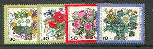 Germany - West Berlin 1974 Humanitarian Relief Fund set of 4 Flowers unmounted mint, SG B457-60*