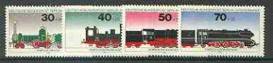 Germany - West Berlin 1975 Youth Welfare (Railway Locomotives) set of 4 unmounted mint SG B4472-75*