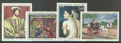 France 1967 French Art set of 4 unmounted mint, SG 1742-45*