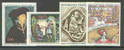 France 1969 French Art set of 4 unmounted mint, SG 1819-22*