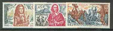 France 1970 History of France (5th series) set of 3 unmounted mint SG 1896-98*