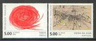 France 1993 Contemporary Art set of 2 unmounted mint SG 3154-55*