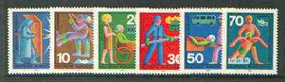 Germany - West 1970 Voluntary Relief Services set of 6 unmounted mint SG 1529-34*