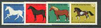 Germany - West 1969 Child Welfare (Horses) set of 4 unmounted mint SG 1478-81*, stamps on horses, stamps on animals, stamps on children