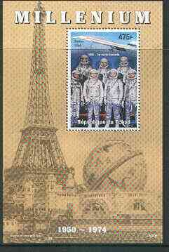 Chad 1999 Millennium - Concorde & USA Astronauts perf m/sheet unmounted mint