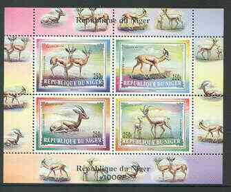 Niger Republic 1998 Gazelles perf m/sheet containing set of 4 unmounted mint