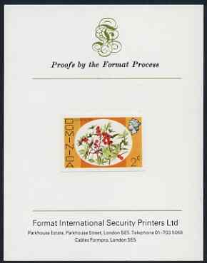 Dominica 1975-78 Castor Oil Tree 2c imperf proof mounted on Format International proof card (as SG 492)