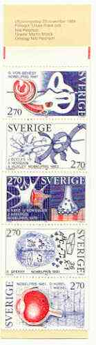 Booklet - Sweden 1984 Nobel Prize Winners for Medicine 113k50 booklet complete and pristine, SG SB377