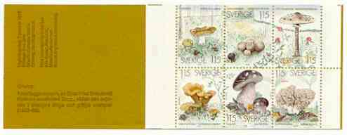 Booklet - Sweden 1978 Edible Mushrooms 6k90 booklet complete and very fine, SG SB330