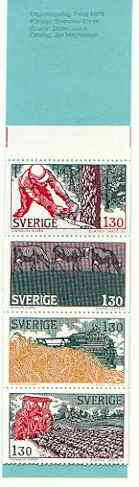 Booklet - Sweden 1979 Farming 13k booklet complete and very fine, SG SB334